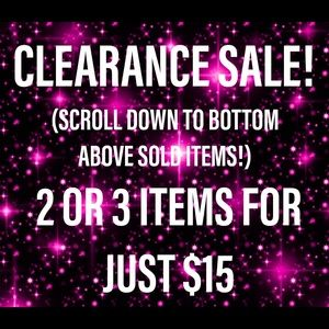 SCROLL DOWN CLEARANCE SALE 🔴 LOOK FOR RED DOT 🔴